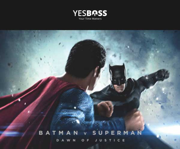 Beli Tiket Batman vs Superman via YesBoss