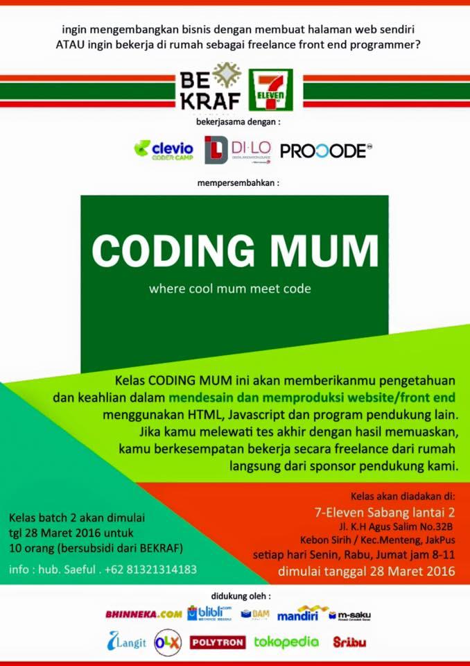 Coding Mum, Ikut?