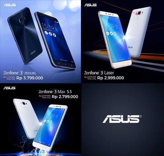 Asus ZenFone 3 Series Turun Harga