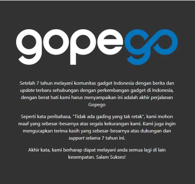 RIP Gopego